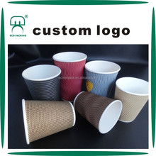 12 16 20oz disposable ripple paper cup for hot drink