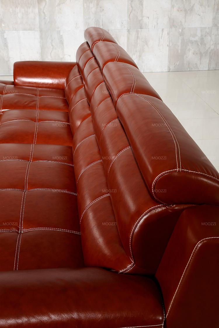 UK Moderne Traditionele Klassieke Mollige Rood Bruin Lederen Sofa ...