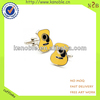 custom logo cheap yellow shape enamel cuff link