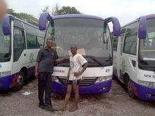 coaster style bus with air conditoner sliding window