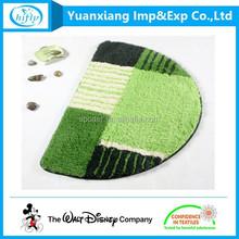 semi circle practical and durable waterproof coral fleece floor mat for bathroom