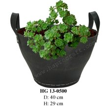 Recycled rubber flower planter/ Recycled rubber plant pot/ Rubber bucket (HG 13-0500)