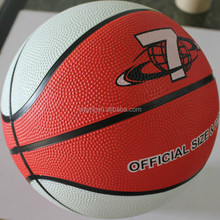 High quality professional 2015 multi-color rubber basketball 7#