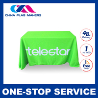 standard table runners,front logo table throws,fabric table covers,spandex tablecloths