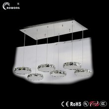 crystal chandelier parts fashion pendant light in crystal rings modern lights led