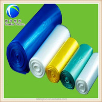 blue green purple garbage all color plastic bags on roll without logo lable