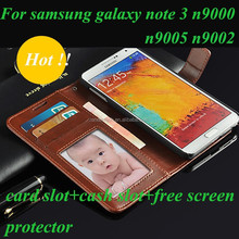 Flip Genium Leather Mobile Phone Case for Samsung Galaxy Note3 N9000/9005