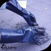 SRSAFETY Best longer pvc dipped gloves/pvc glove dot machine
