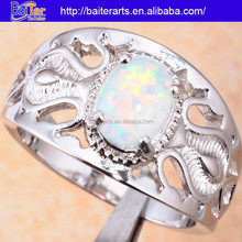 Hot !Custom 925 Sterling Silver Fire Opal Hollow Womens Wedding Ring Sets