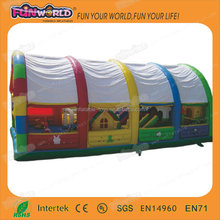 Outdoor toys giant inflatable obstacle fun city for kids and adults