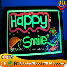alibaba express HOT sale cheapest led glass writing board for kids home use or business new products
