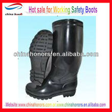 industry safety pvc boots/steel toe steel shank safety boots/groundwork safety boots