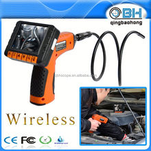 2.4 inch waterproof IP67 tube inspection camera for inspection with AV out 9mm head AA battery power