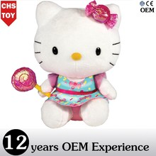 CHStoy hello kitty plush toy wholesale doll for valentine 2015