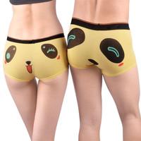 2214 cartoon Cute panda Modal Sexy Couple Underwear Men's Women's Suit man t back panti sexi item woman