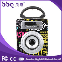 Support USB/ SD TF card portable mini speakers bluetooth with fm radio