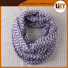 Classics Factory Custom Scarf Factory China 100% Polyester Fashion Scarf Chevron Infinity Scarf S0083