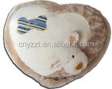 sofa decoration Stuffed heart shape with dog head toy Plush Cushion / plush soft animal shape baby pillow