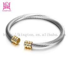 High quality 316L stainless steel unquie design wire bangle