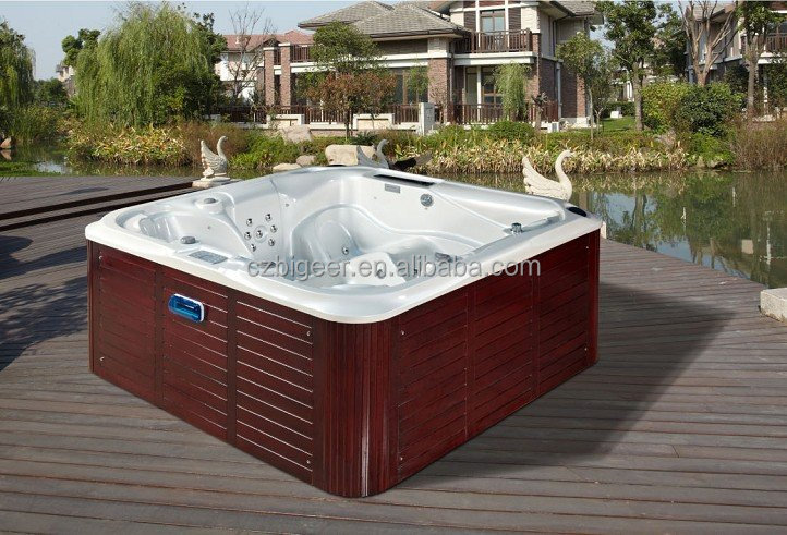 Plastic bathtub for adult whirlpool massage bathtub jazzi pool spa baignoire - Baignoire spa jacuzzi ...
