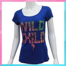 custom design high quality women t shirts with character printed