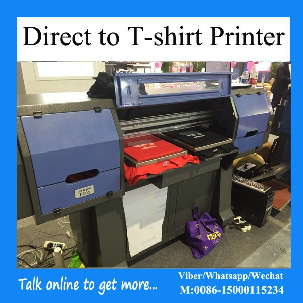 Best dtg garment flatbed printer for t shirt printing for T shirt printing machines prices