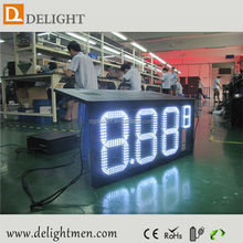outdoor led clock time date temperature sign/ led outdoor gas station signs/ led football substitute board