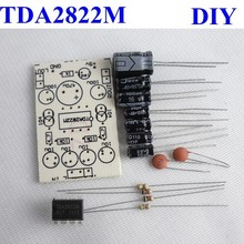 TDA2822M mini amplifier Easy unassembled kit DC12V dual channel Power Amplifier 15w+15w
