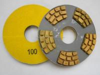 6-3/4 inch 174mm Horse hoof Shape Concrete Dry Polishing Pads With Ceramic Bond