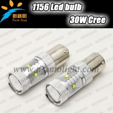 Led 1156 White Car Stop Bulb Led Tail Brake Light Rear Lamp 30W high power car auto Reverse Light Bulb