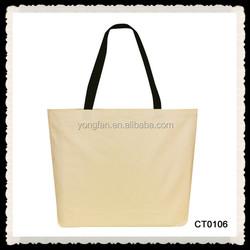 Hot Sale Cotton Plain Canvas Tote Shopping Bag Handled Style Latest Fashion Women Bag