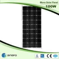 100w photovoltaic mono solar panels for solar energy system