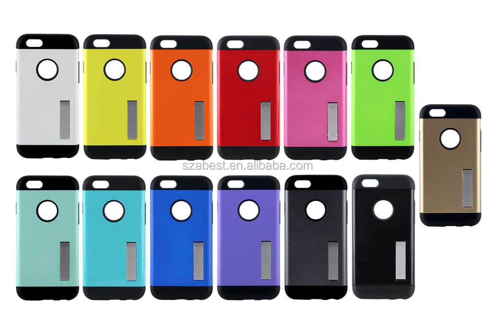 Slim armor case with holder for iphone6 and plus, combo case for iphone 6