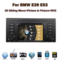"In Stock 7"" HD Car DVD Player for BMW E39 E53 X5 with GPS PIP Bluetooth Radio RDS USB IPOD Steering wheel Control Canbus"