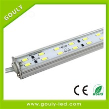5 years factory aluminum extrusion diplay shelves, stage gap, floor fitting led light bar made in china