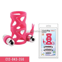 sex toys vibrating rings Men's clit dual motors cock rings stretchy penis rings vibration
