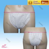 fashion top quality girl transparent sexy panties/disposable woman bikini/disposable non woven underwear factory