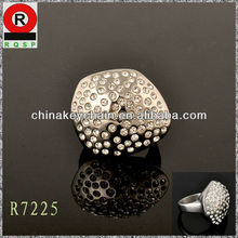 Innovation design new style irregularly shaped metal 2014 new imitation jewelry diamond ring