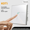 Tempered Crystal Glass Panel Wall Touch Switch for Home Automation