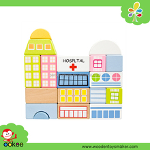 Color educational building block toy set City blocks-hospital new toys for kid 2016