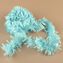Light Blue Tissue Fringe Garland Tissue Festooning for Party Accessory