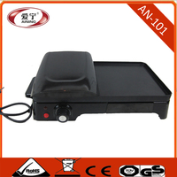 Table -top Bbq Electric Contact Grill and Griddle
