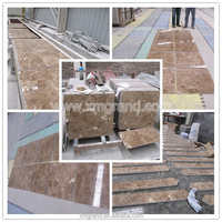 Turkey high quality Crystal light Emperador polished floor tiles for hotel decoration