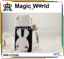 cute rabbit pearl new arrival cheap mobile phone case