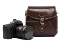 288 Coffee Vintage PU Leather Case Retro Camera Shoulder Bag DSLR Camera Bag For Nikon Canon Sony Bag