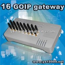 16 goip for call terminal gsm gateway 16 ports support imei change sip gateway voip service provider