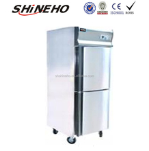 W455 comercial refrigerador/nevera por mayor congelador/2 puerta del refrigerador con CE