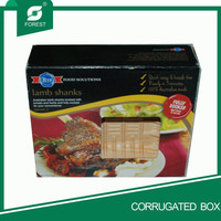 GOOD QUALITY OFFSET PRINTING FOOD PACKAGING BOX WITH WINDOW FOR FULLY COOKIED LAMB SHANKS