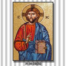 ortodoxa mosaicos retrato clásico retrato de vidrio color de la pintura de mosaico de vidrio