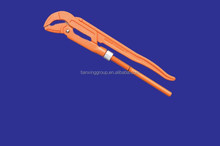 45#Bent Nose Pipe Wrench Dipped Handle